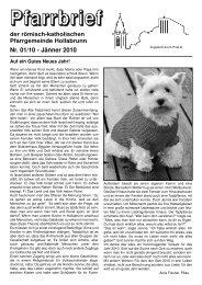 Nr. 01/10 - Jänner 2010 - Pfarre Hollabrunn