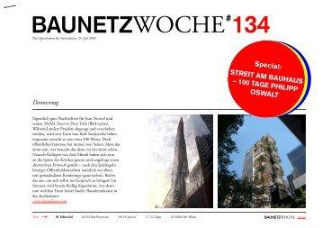 BauNetzWOCHE # 134 - Streit am Bauhaus