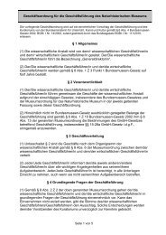 Geschäftsordnung für die Geschäftsführung des NHM