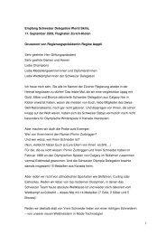 Empfang Schweizer Delegation World Skills, 11 ... - Kanton Zürich