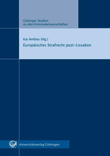 Europäisches Strafrecht post-Lissabon