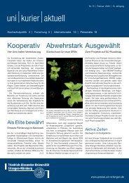 uni kurier aktuell Nr. 75 - Friedrich-Alexander-Universität Erlangen ...