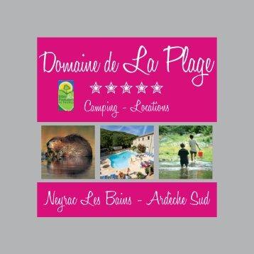 Neyrac Les Bains - Ardèche Sud - Domaine de la Plage