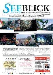 Seeblick-Ausgabe vom 09.08.2013 - Gemeinde Romanshorn