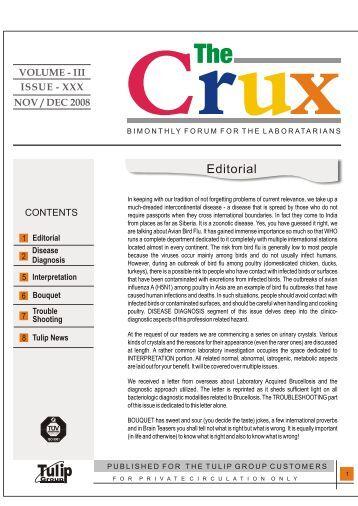 VOLUME - I II ISSUE - XXX NOV / DEC 2008 - The Tulip Group, India