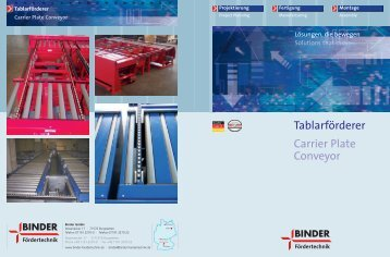 Tablarförderer Carrier Plate Conveyor - Binder Fördertechnik