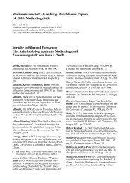 Sprache in Film und Fernsehen - RRZ Universität Hamburg