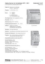 Datenblatt 84.9 Meßumformer für Schatltafeln SPT1 / STC1