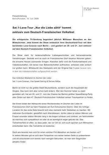 Sat.1-Love-Tour - Deutsch-Französisches Volksfest