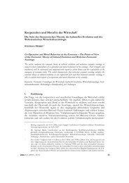 Kooperation und Moral in der Wirtschaft* - Zeitschrift für Wirtschafts ...