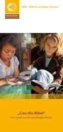 """""""Lies die Bibel"""" - HMK - Hilfe für verfolgte Christen"""