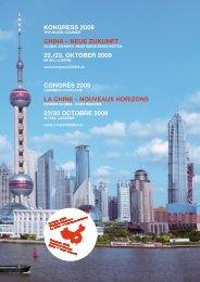 China - Neue Zukunft. Global Denken. Neue Wege beschreiten - 22 ...