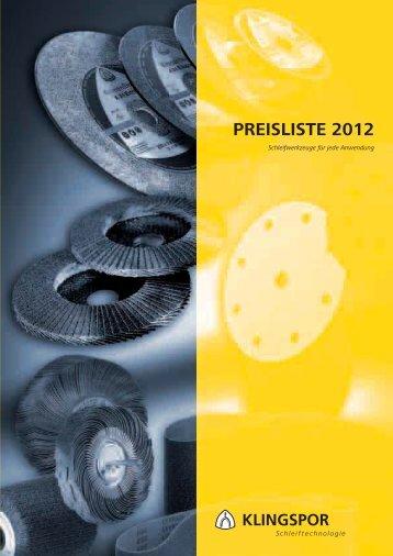 Klingspor-Schleifkatalog 2012 - HIT - Honer Industrietechnik