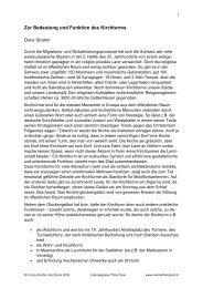 Zur Bedeutung und Funktion des Kirchturms - Interreligiöser Think ...
