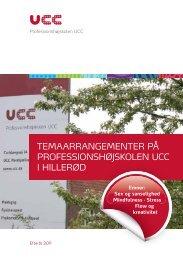 Se flere temaarrangementer i Hillerød - Professionshøjskolen UCC