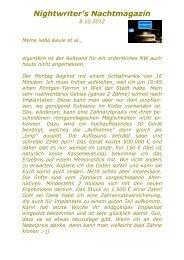 Nightwriter's Nachtmagazin - Big-max-web.de