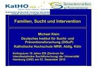 Familien, Sucht und Intervention - Zentrum für interdisziplinäre ...