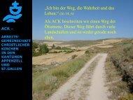 arbeits - ACK - Arbeitsgemeinschaft christlicher Kirchen