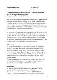 Das deutsche Team - ARHA - Austrian Reining Horse Association