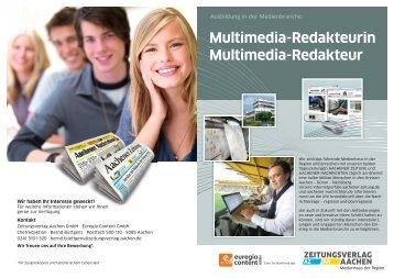 Multimedia-Redakteurin Multimedia-Redakteur - Aachener Zeitung