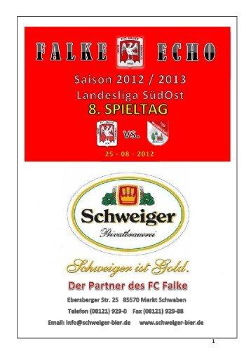 Unsere 1.Mannschaft - FC Falke Markt Schwaben