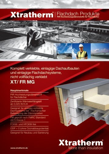 Flachdach Produkte - Xtratherm