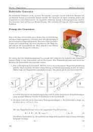Elektrische Generator Prinzip des Generators