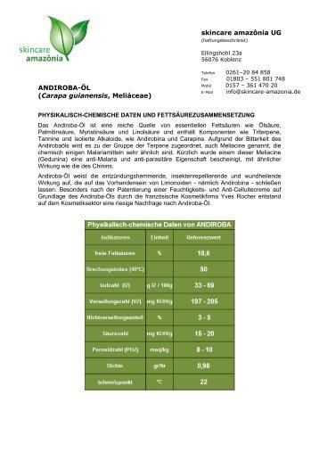 dieses Datenblatt - skincare amazonia UG