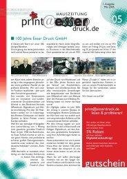 Hauszeitung Nr. 1 vom Mai 2005 (PDF, 900 kB) - Esser Druck GmbH