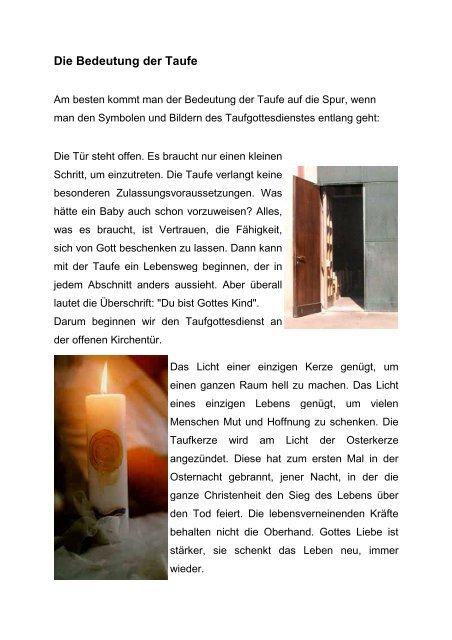 Die Bedeutung Der Taufe Seelsorgeeinheit Ehingen Stadt