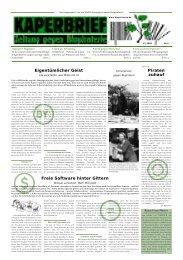 Eigentümlicher Geist Freie Software hinter Gittern P ... - Biopiraterie