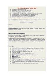 Richtlinien und Tipps für das Verfassen von Artikeln in den diversen ...