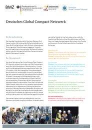 Deutsches Global Compact Netzwerk - GIZ