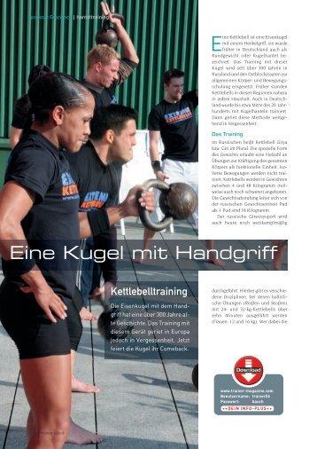 Eine Kugel mit Handgriff - Health Conception GmbH