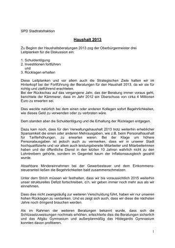 Haushaltsrede 2013 (PDF, 49 kB) - SPD Kempten (Allgäu)