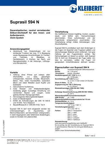 Suprasil 594 N - Kleiberit-direct.com