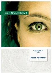 Leistungsbilanz 2010 - Hesse Newman
