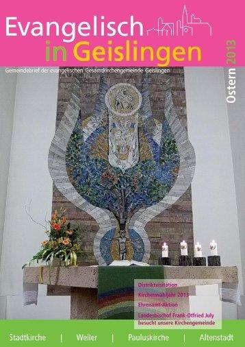 Ausgabe März 2013 - Evangelischer Kirchenbezirk Geislingen