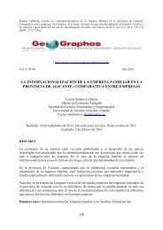 La internacionalización de la empresa familiar en la provincia de ...