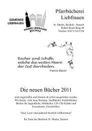 Die neuen Bücher 2011