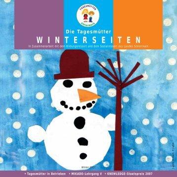 Winterseiten 2007 - Tagesmütter Steiermark