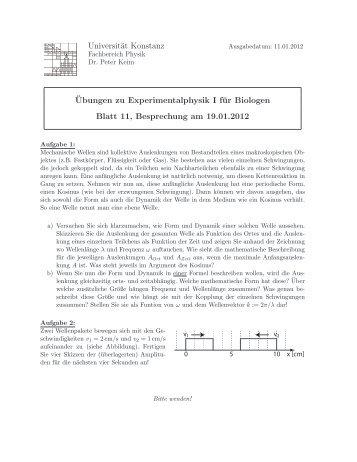 Übungsblatt Nr. 11 - keim.physik.uni-konstanz.de - Universität ...