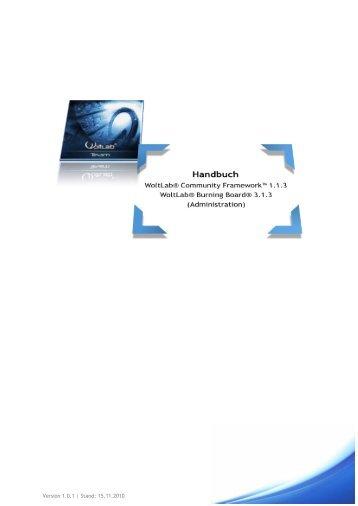Zum Benutzerhandbuch - WoltLab GmbH