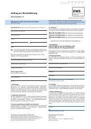 Formular: EWS-Ökostrom bestellen - Germanwatch
