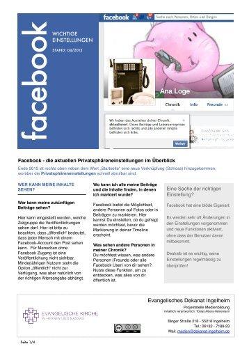 Facebook Guide - Evangelische Jugend im Dekanat Ingelheim