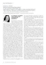 psychotherapie im multikulturellen kontext - Lehranstalt für ...