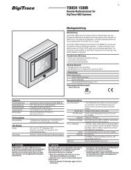 Manual DigiTrace TOUCH 1500R - Pentair Thermal Controls