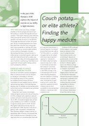 Couch potato or elite athlete? Finding the happy medium