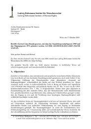 Stellungnahme BIM_StbG_2005 - Ludwig Boltzmann Institut für ...