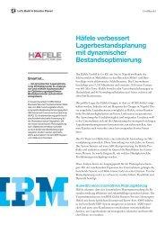 Häfele verbessert Lagerbestandsplanung mit dynamischer ... - IBM